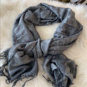 Gray blue scarf
